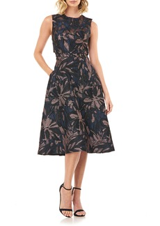 Kay Unger New York Kay Unger Brooke Back Cutout Fit & Flare Dress