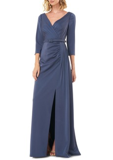 Kay Unger New York Kay Unger Capri Belted Gown