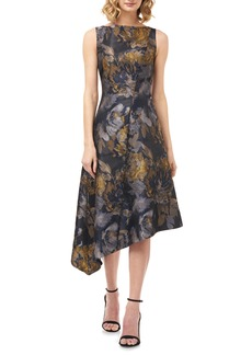 Kay Unger New York Kay Unger Carmella Dijon Asymmetrical Cocktail Dress