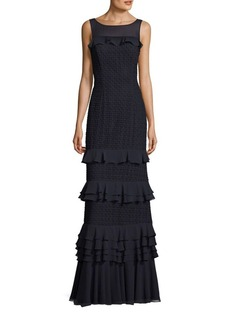 Kay Unger New York Kay Unger Crochet Lace Gown