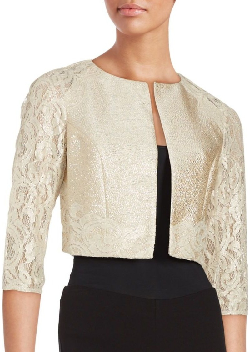 Kay Unger New York Kay Unger Cropped Lace Jacket