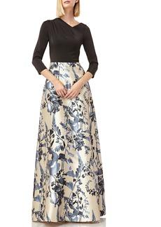 Kay Unger New York Kay Unger Drape Neck Evening Dress