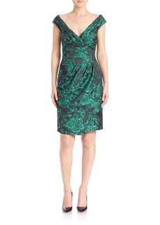 Kay Unger New York Kay Unger Draped Brocade Dress