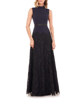 Kay Unger New York Kay Unger Ellie Lace A-Line Gown