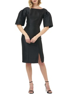 Kay Unger New York Kay Unger Eva Statement Sleeve Mikado Cocktail Dress