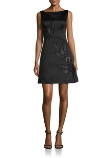 Kay Unger New York Kay Unger Floral Embroidered Dress