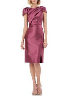 Kay Unger New York Kay Unger Folded Bodice Mikado Satin Cocktail Dress
