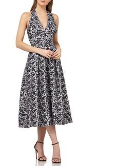 Kay Unger New York Kay Unger Halter Tea Length Dress
