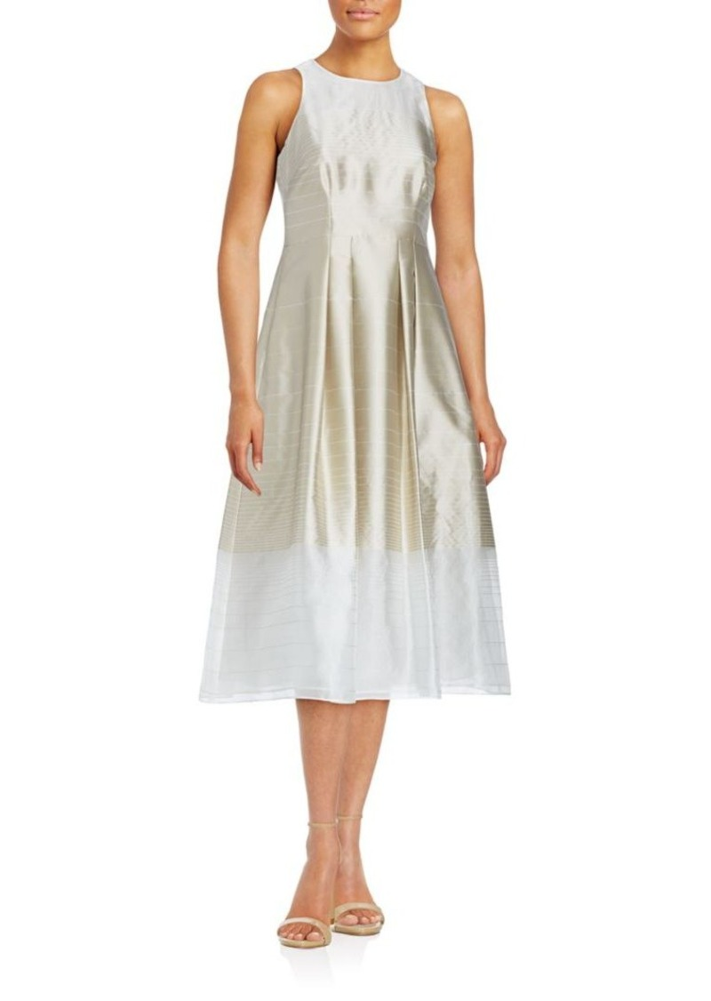 Kay Unger New York Kay Unger Illusion Stripe A-Line Dress