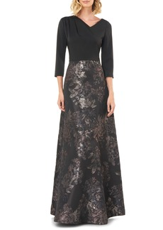 Kay Unger New York Kay Unger Izabella A-Line Evening Gown