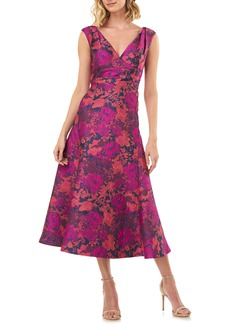 Kay Unger New York Kay Unger Jacquard Cocktail Dress