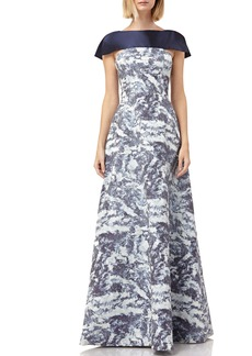 Kay Unger New York Kay Unger Jacquard Gown