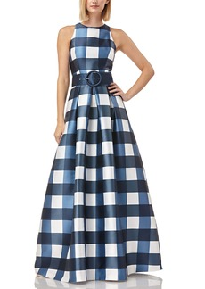 Kay Unger New York Kay Unger Jacqueline Belted Gown