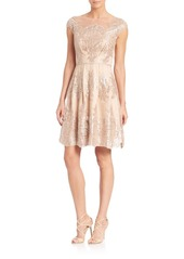 Kay Unger New York Kay Unger Lace A-Line Dress