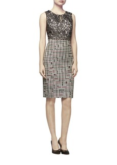 Kay Unger New York Kay Unger Lace and Tweed Sheath Dress