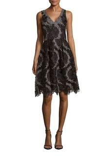 Kay Unger New York Kay Unger Lace Embroidered Dress