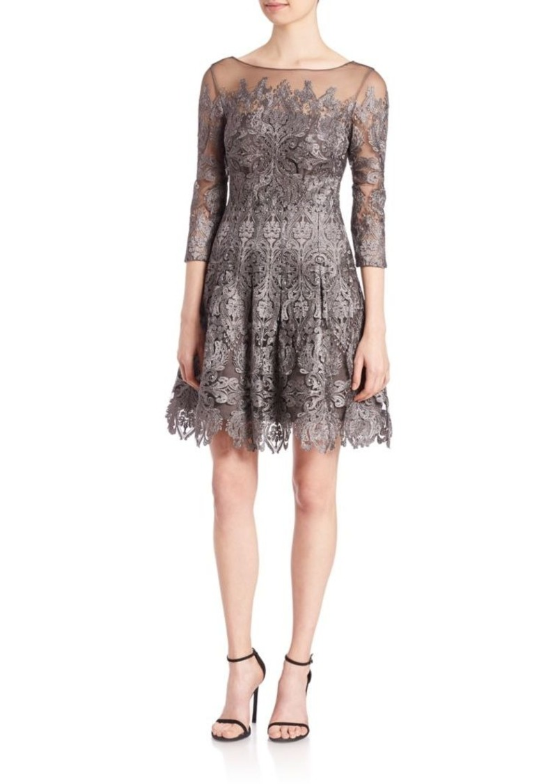 Kay Unger New York Kay Unger Lace Fit-&-Flare Dress