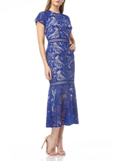 Kay Unger New York Kay Unger Lace Mermaid Cocktail Dress