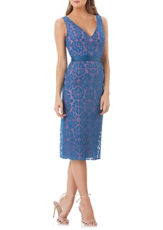 Kay Unger New York Kay Unger Lace Sheath Dress