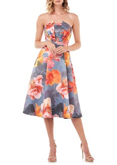 Kay Unger New York Kay Unger Lea Strapless Mikado Cocktail Dress