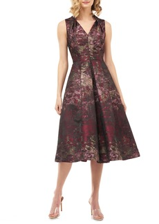 Kay Unger New York Kay Unger Lolita Abstract Jacquard Cocktail Dress
