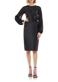 Kay Unger New York Kay Unger Long Sleeve Body-Con Sheath