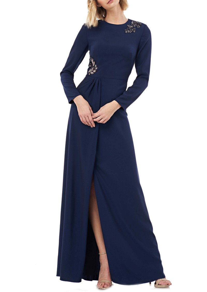 a99d8001 Kay Unger New York Kay Unger Long Sleeve Stretch Crepe Gown | Dresses