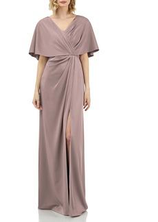 Kay Unger New York Kay Unger Luna Drape Neck Gown