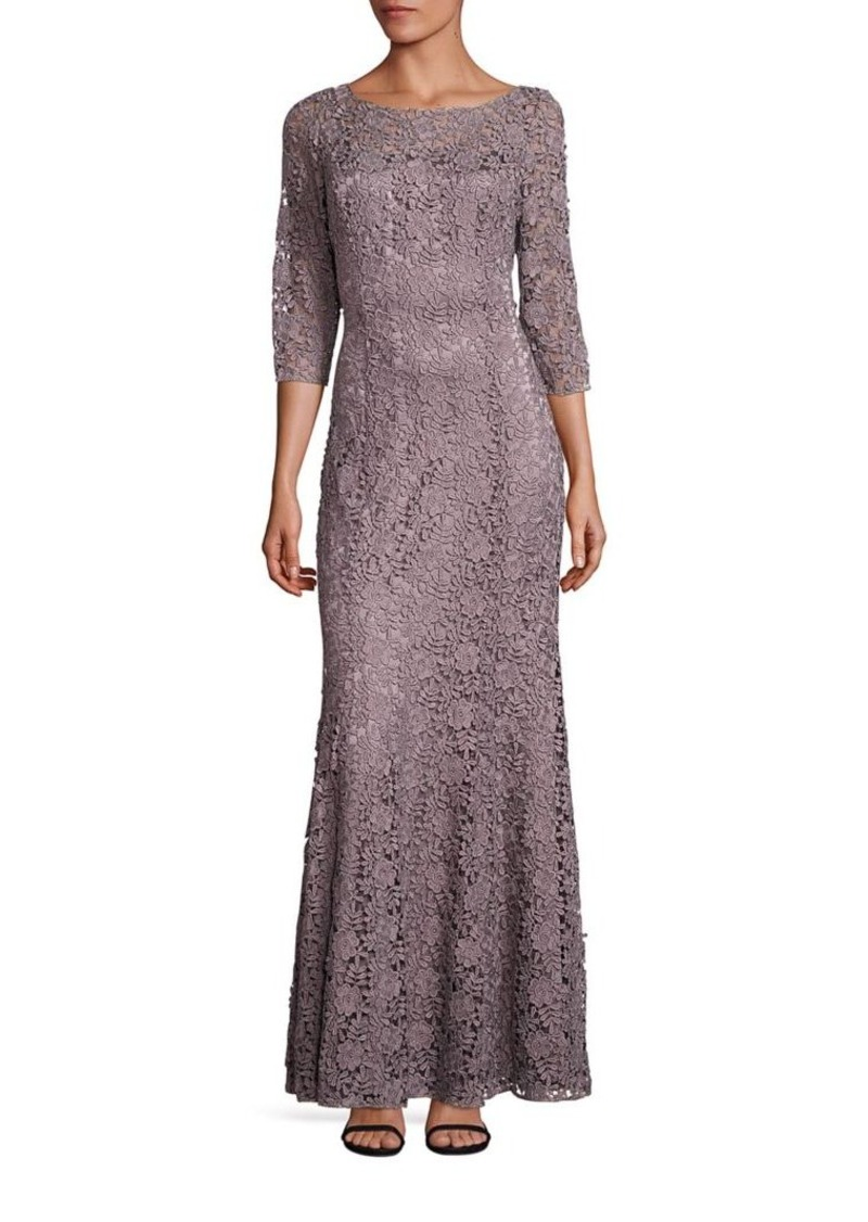 5e07d42dccc Kay Unger New York Kay Unger Metallic Lace Mermaid Gown