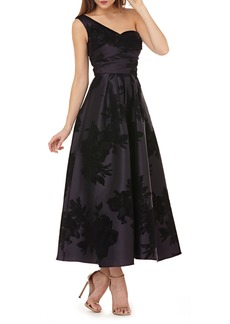 Kay Unger New York Kay Unger Mikado One-Shoulder Gown