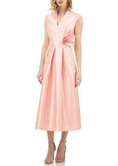 Kay Unger New York Kay Unger Mikado Tea Length Dress