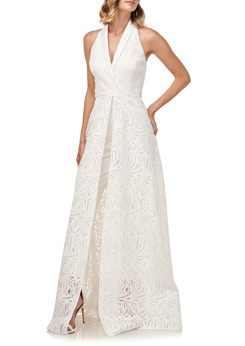Kay Unger New York Tiered Wrap Gown Now 260 00