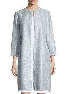 Kay Unger New York Long Tweed Coat