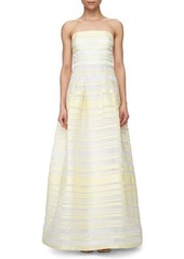 Kay Unger New York Sheer & Solid Striped Ball Gown