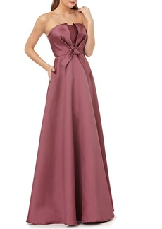 Kay Unger New York Strapless Ball Gown w/ Bow Bodice