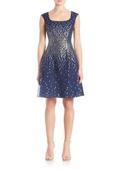 Kay Unger New York Kay Unger Ombre Glitter Dress