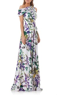 Kay Unger New York Kay Unger One-Shoulder A-Line Gown