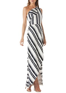 Kay Unger New York Kay Unger One-Shoulder Cross Front Maxi Dress