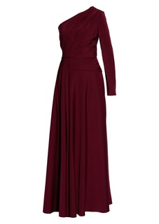 Kay Unger New York Kay Unger One-Shoulder Faille Gown