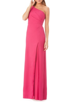 Kay Unger New York Kay Unger One-Shoulder Gown