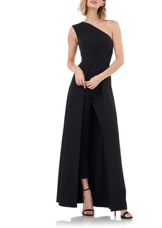 Kay Unger New York Kay Unger One-Shoulder Maxi Romper