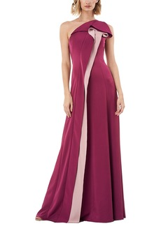 Kay Unger New York Kay Unger One Shoulder Solid Gown