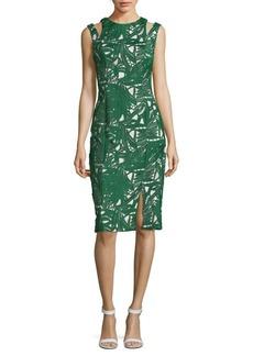 Kay Unger New York Kay Unger Palm Slit Sheath Dress