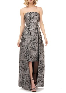 Kay Unger New York Kay Unger Paloma Strapless Jacquard Gown