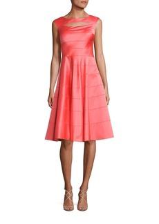Kay Unger New York Kay Unger Paneled A-Line Dress