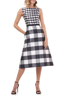 Kay Unger New York Kay Unger Pauline A-Line Midi Dress
