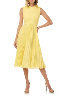 Kay Unger New York Kay Unger Pleated Chiffon Cocktail Dress