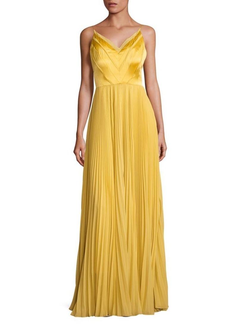 Kay Unger New York Kay Unger Pleated V-Neck Gown | Dresses