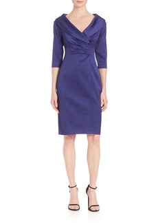 Kay Unger New York Kay Unger Portrait Collar Satin Dress