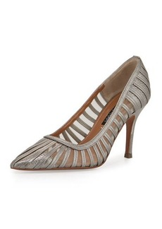 Kay Unger New York Kay Unger Preena Strappy Leather/Mesh Pump